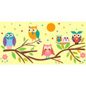Owls on Branch Canvas Art