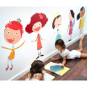 Glitzy Girls Fabric Wall Decal