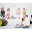 Ahoy Matey Pirate Boat Wall Decal