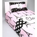 Personalized Paris Posh Bedding Set