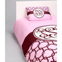 Classy Pink Personalized Toddler Bedding Set