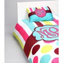 Stripes 'n Dots Personalized Bedding Set