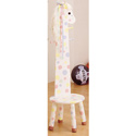 Pony Stool with Coat Rack