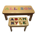 Handmade Personalized Puzzle Stool
