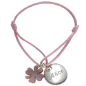 Personalized Bracelet with Clover Charm