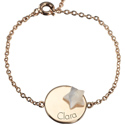 Name Engraved Little Shape Medal Bracelet
