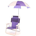 Pre-Teen Beach Chair & Multi Umbrella