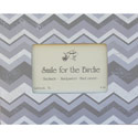Gray Chevron Picture Frame