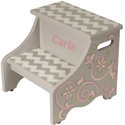 Graceful Chevron Step Stool