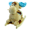 Personalized Chocolate Moose Rocker