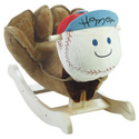 Personalized Homer Baseball Plush Rocker