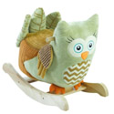 Personalized Owliver Green Owl Rocker