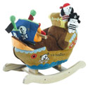 Personalized Ahoy Doggie Pirate Ship Rocker