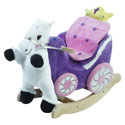 Personalized Princess Carriage Plush Rocker