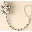 Silver Beads Pacifier Clip