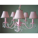 Dangling Crystals Light Pink Chandelier