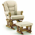 Plush Sleigh Glider with Ottoman