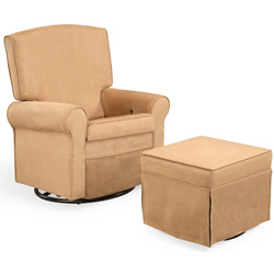 Square Back Upholstered Rocker
