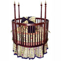 Round Spindle Crib With Finials