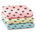 Round Crib Brown Polka Dots Sheet