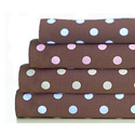 Chocolate Dots Woven Cotton Crib Sheet