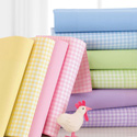 Pastel Gingham Moses Basket Sheet