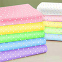 Pastel Pindots Woven Cotton Crib Sheet