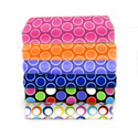 Primary Bubbles Woven Cotton Crib Sheet