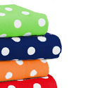 Primary Dots Woven Cotton Crib Sheet