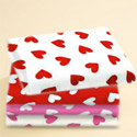 Round Crib Primary Hearts Sheet