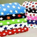 Primary Stars Woven Cotton Crib Sheet