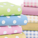Round Crib Pastel Polka Dot Sheet