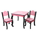 Fashion Prints Diva Table and Chair Set
