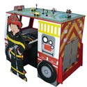 Fire Engine Desk and Chair Set