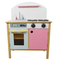 Pink Play Kitchen with Dual Doors