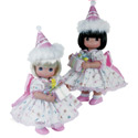 Birthday Wishes Twin Dolls