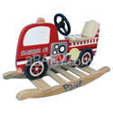 Personalized Fire Engine Rocking Horse