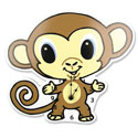 Chibi Monkey Wall Clock
