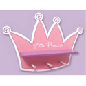 Tiara Shelf with Peg Hooks