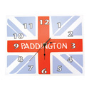 Paddington Bear Union Jack Wall Clock