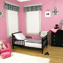 Versailles Black & White Toddler Bedding