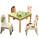 Happy Farm Table and Chair Set