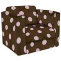 Polka Dot Kid's Upholstered Rocker