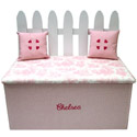 Picket Fence Toy Box Bench