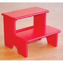 Carved Lines Step Stool