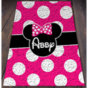 Personalized Minnie Mouse Rug
