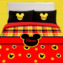 Personalized Mickey Mouse Toddler Bedding