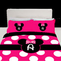Personalized Hot Pink Minnie Mouse Bedding Set