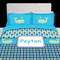 Personalized Whale Splash Bedding Set