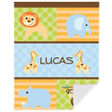 Personalized Animal Safari Baby Blanket